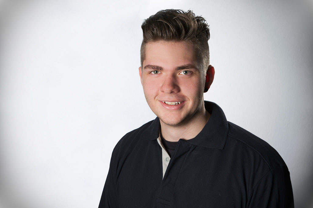 Jannik Meding, Auszubildender zum KFZ-Mechatroniker