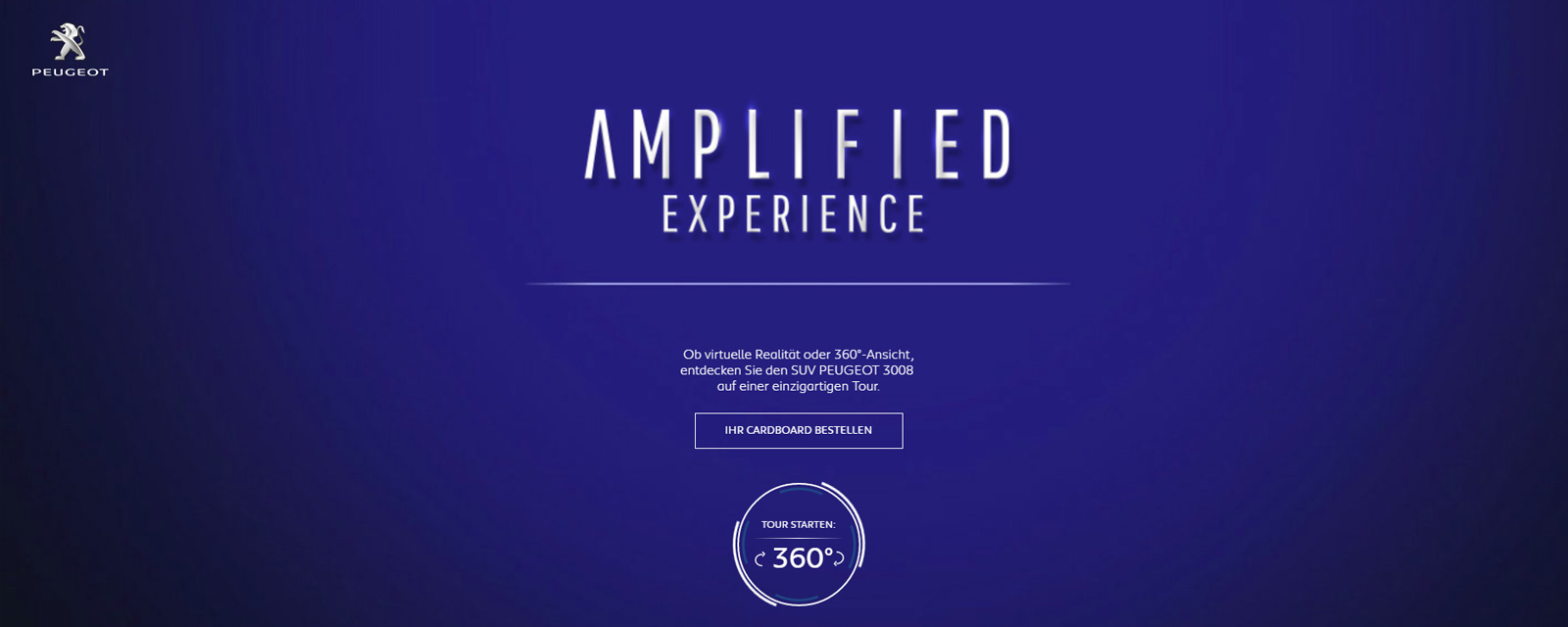 Link zu Amplified Experience bei PEUGEOT
