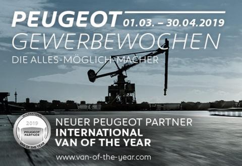 Willkommen bei den PEUGEOT-Gewerbewochen