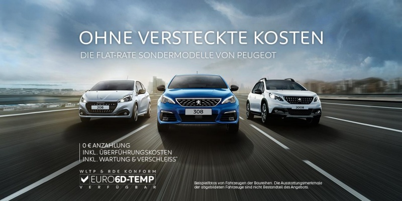 Unsere Flat-Rate Neuwagenangebote: TOP-Ausstattung, TOP-Monatsrate und EURO 6D-TEMP